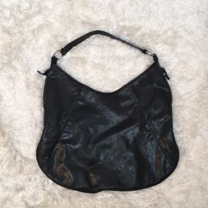 Banana Republic leather hobo.